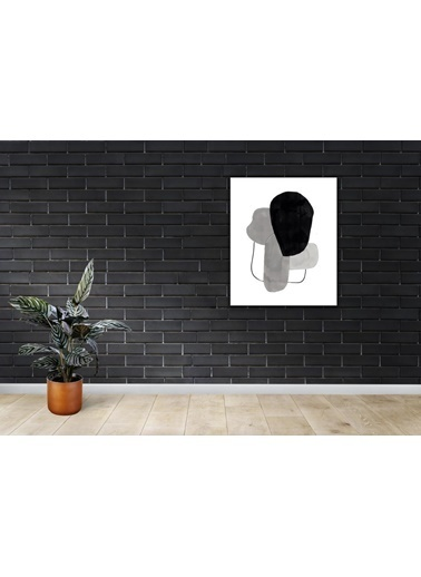 Chic Life Chic Life Siyah Gri Beyaz Kanvas Tablo -50x64 cm Siyah